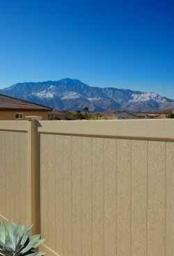 Chesterfield With Certastucco Vinyl Privacy Fence
